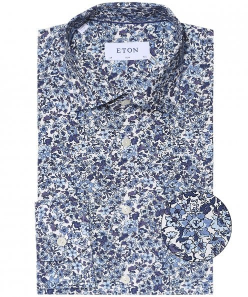 Eton Slim Fit Floral Shirt