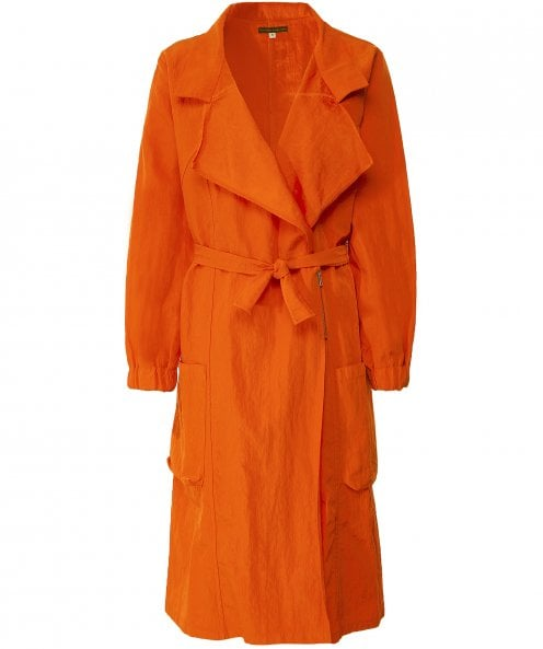 Lurdes Bergada Long Technical Trench Coat