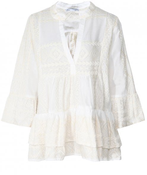 Kori Embroidered Bell Sleeve Blouse