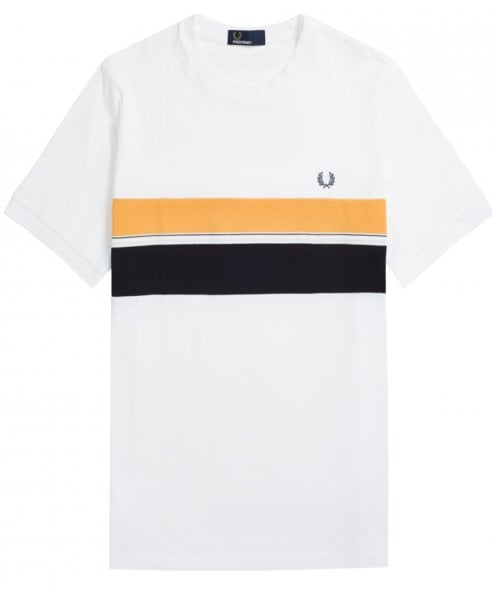 Fred Perry Striped Chest Panel T-Shirt M6518 100