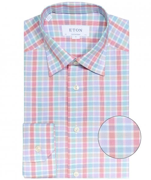 Eton Contemporary Fit Gingham Shirt