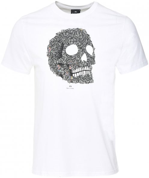 Paul Smith Organic Cotton Zebra Skull Print T-Shirt