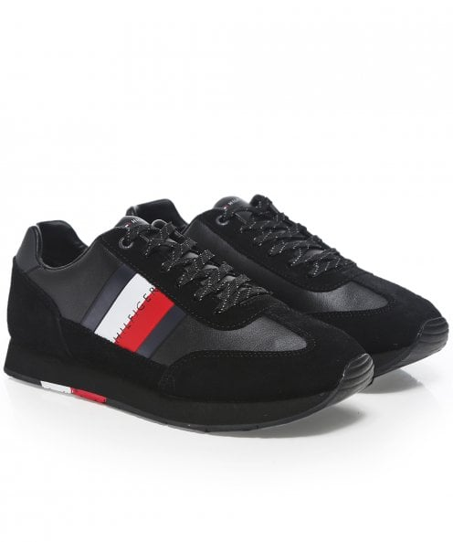 Tommy Hilfiger Suede Trim Flag Runner Trainers