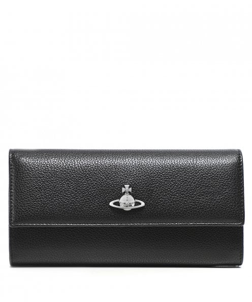 Vivienne Westwood Accessories Pebbled Leather Windsor Long Wallet