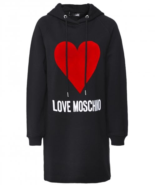 Moschino Love Moschino Oversized Heart Logo Hoodie