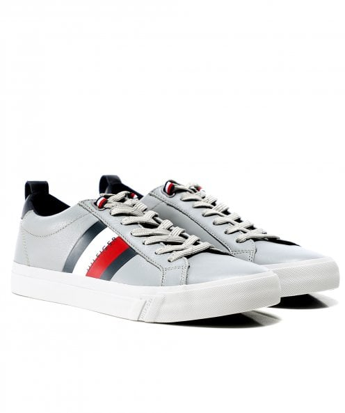 Tommy Hilfiger Leather Flag Trainers