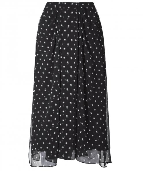 Vince Mixed Dot Skirt