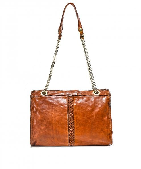 Campomaggi Leather Braided Shopper Bag