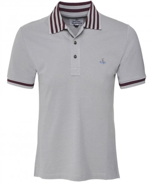 Vivienne Westwood Man Bio Cotton Striped Trim Polo Shirt