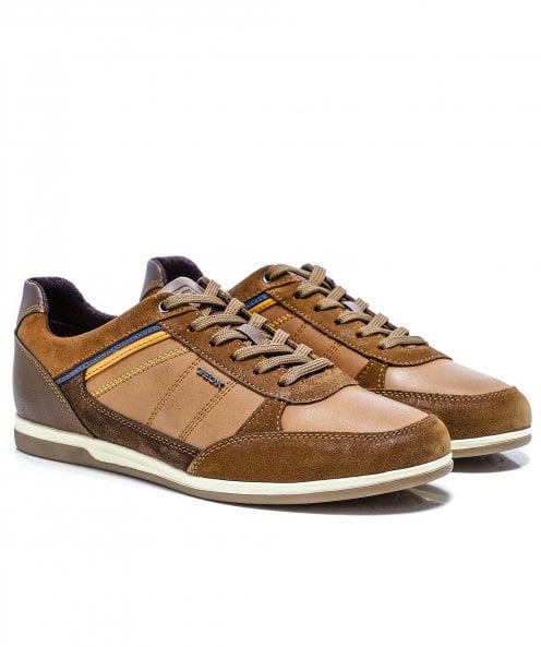 Geox Waxed Leather Renan Trainers