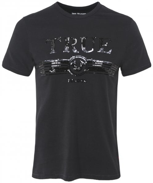 True Religion Crew Neck Sequin True Retro T-Shirt