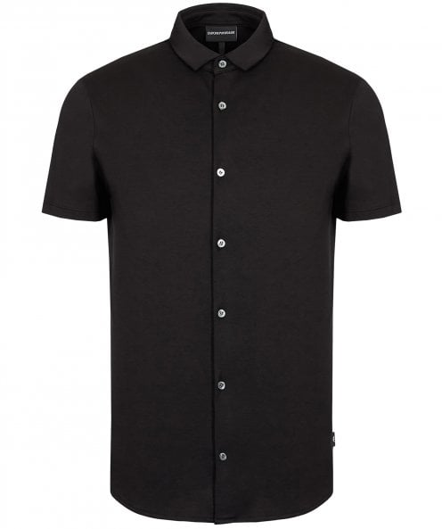 Armani Slim Fit Jersey Cotton Short Sleeve Shirt
