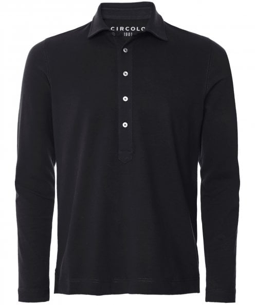 Circolo 1901 Jersey Long Sleeve Polo Shirt