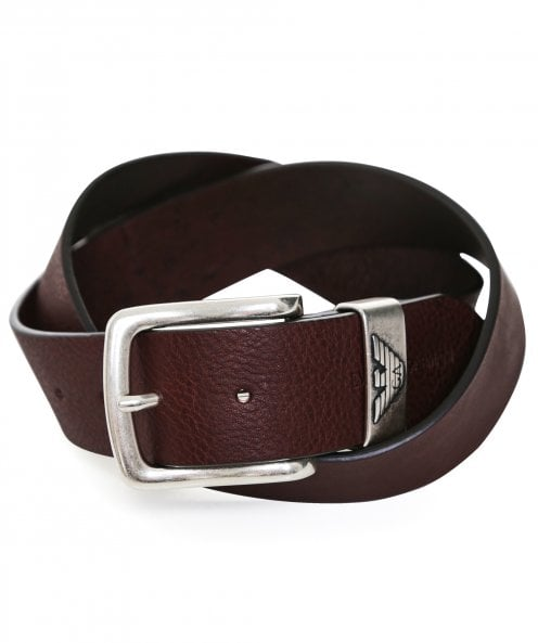 Armani Tumbled Leather Belt