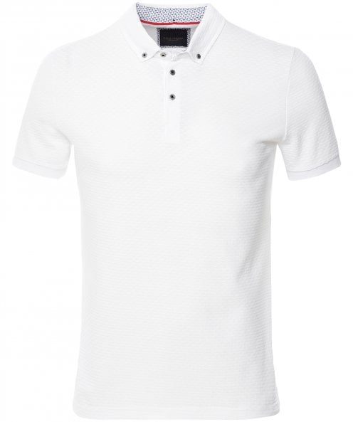 Guide London Textured Cotton Polo Shirt