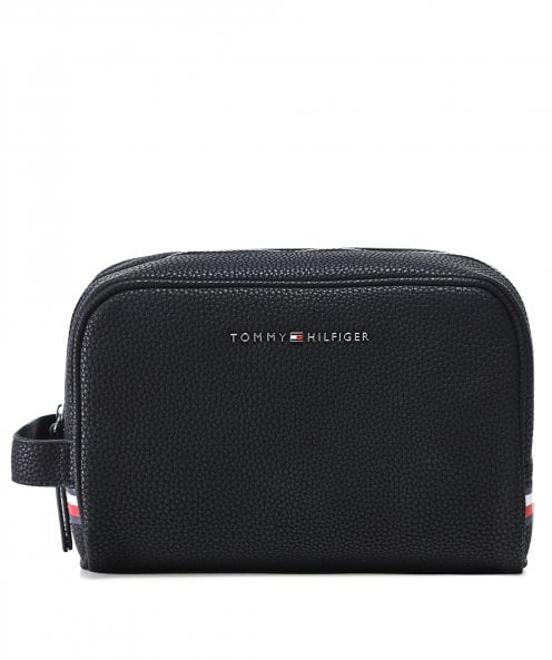 Tommy Hilfiger Faux Leather Essential Wash Bag