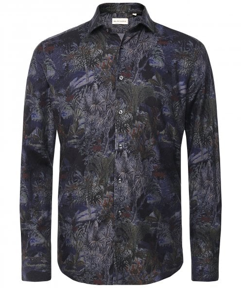 Baldessarini Brushed Cotton Botanical Print Shirt