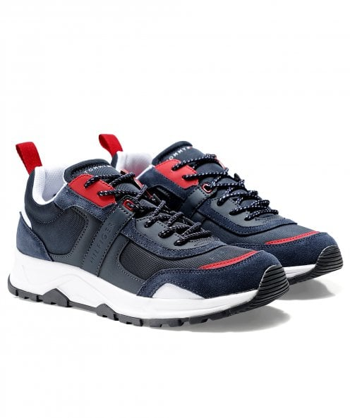 Tommy Hilfiger Mixed Texture Fashion Trainers