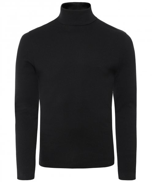 BOSS Slim Fit Cotton Roll Neck Tenore 06 Sweater