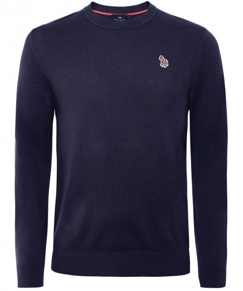 Paul Smith Wool Blend Crew Neck Zebra Jumper
