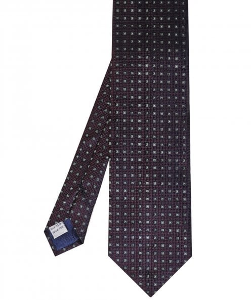 Stenstroms Textured Silk Geometric Print Tie