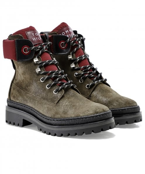Tommy Hilfiger Sporty Outdoor Lace Up Suede Boots
