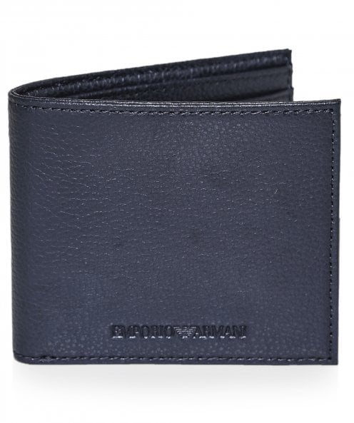 Armani Tumbled Faux Leather Bifold Wallet