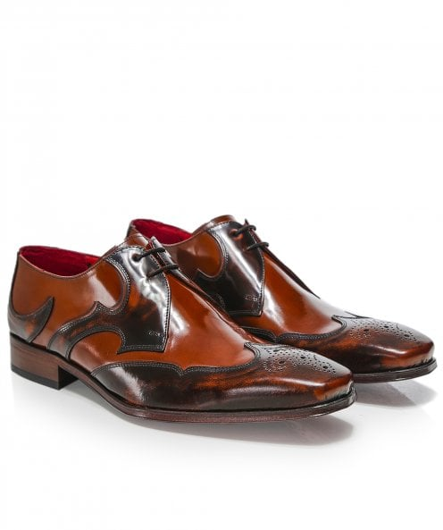 Jeffery-West Patent Leather Scaramanga Gibson Shoes