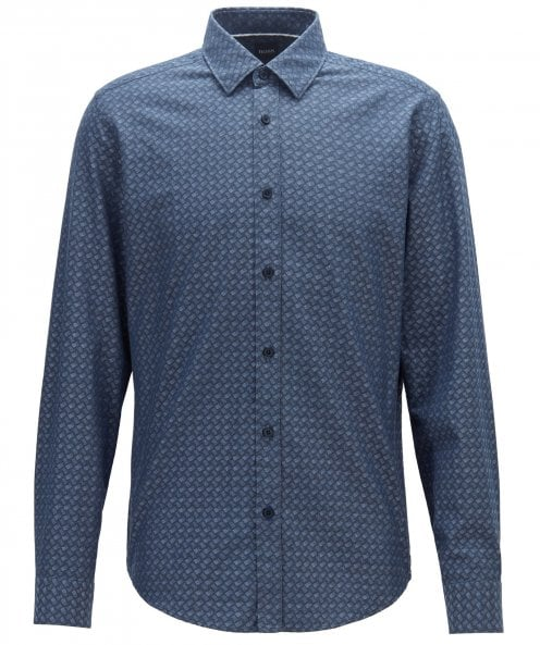 BOSS Regular Fit Jacquard Lukas Shirt