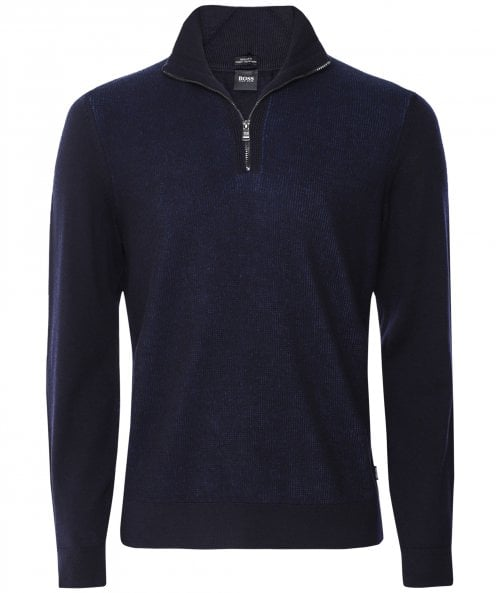 BOSS Virgin Wool Half-Zip Bizzino Jumper