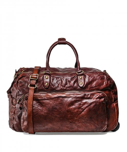 Campomaggi Leather Trolley Duffle Bag