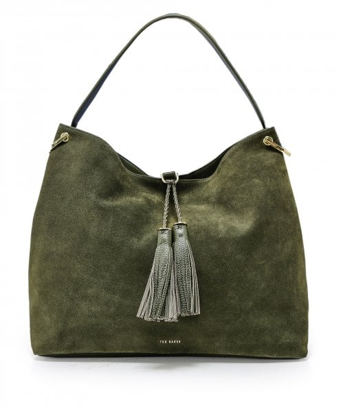 Ted Baker Leather Demmi Tasselled Hobo Bag
