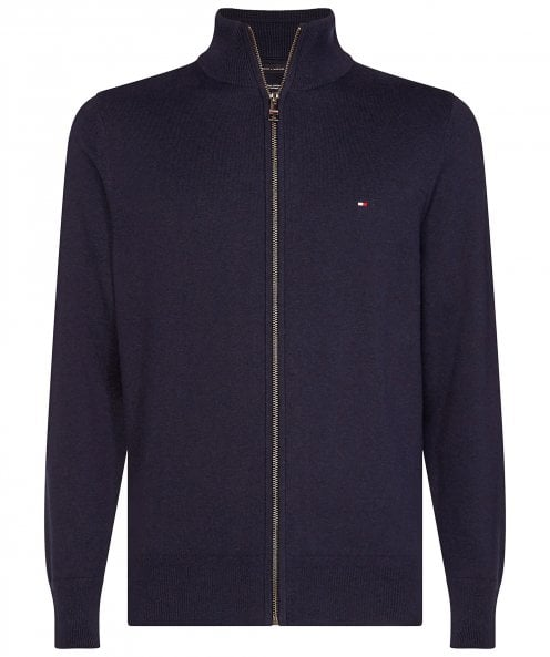 Tommy Hilfiger Pima Cotton Cashmere Zip-Through Cardigan