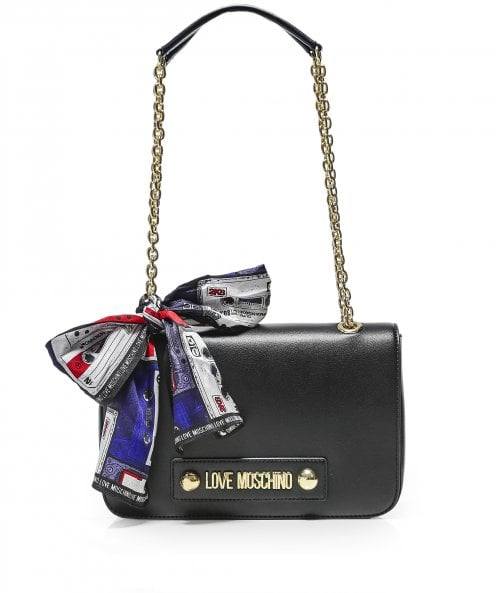 Moschino Love Moschino Logo Foulard Shoulder Bag