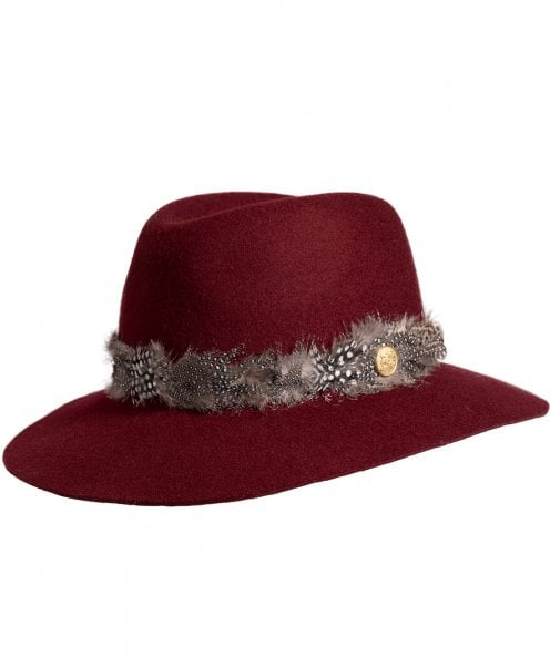 Holland Cooper Trilby Hat with Feather Band