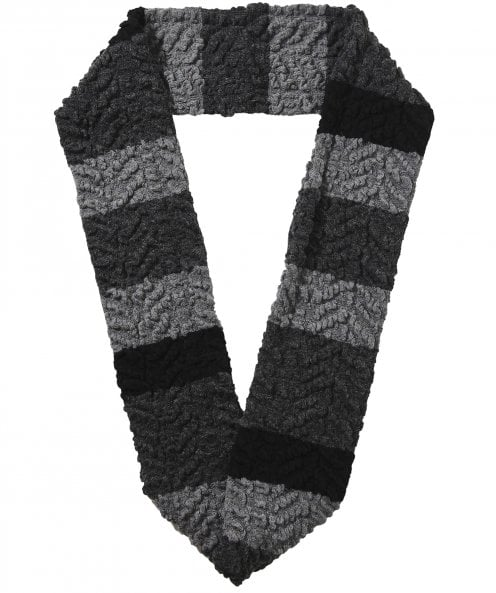 Textured Wool Blend Tube Scarf