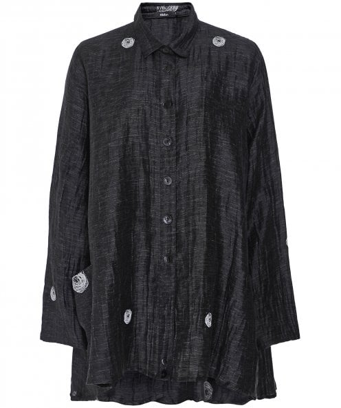 Wally Scribble Print Oversized Shirt