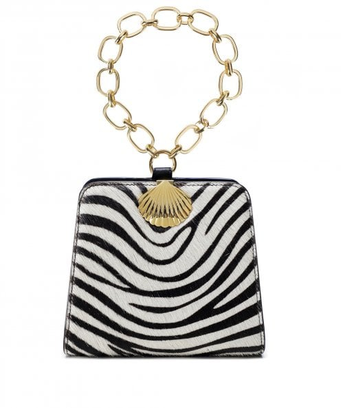RIXO Amelie Zebra Print Calf Hair Mini Bag
