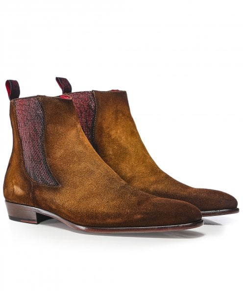 Jeffery-West Suede Capone Wing Chelsea Boots