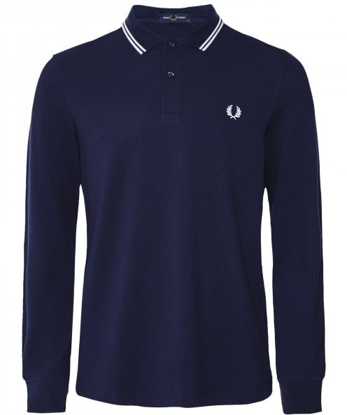 Fred Perry Long Sleeve Twin Tipped Polo Shirt M3636 I86