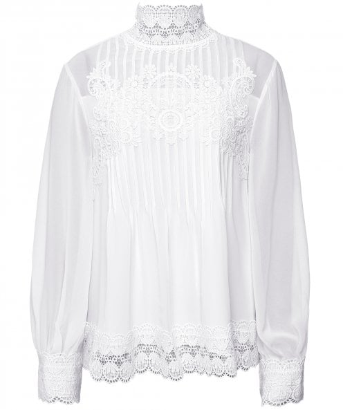 Ted Baker Cailley Lace Pintuck Blouse