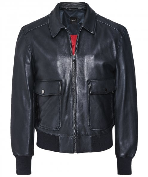 BOSS Leather Gonel Jacket