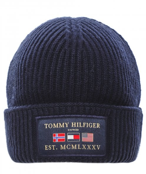 Tommy Hilfiger Cashmere Blend Patch Beanie
