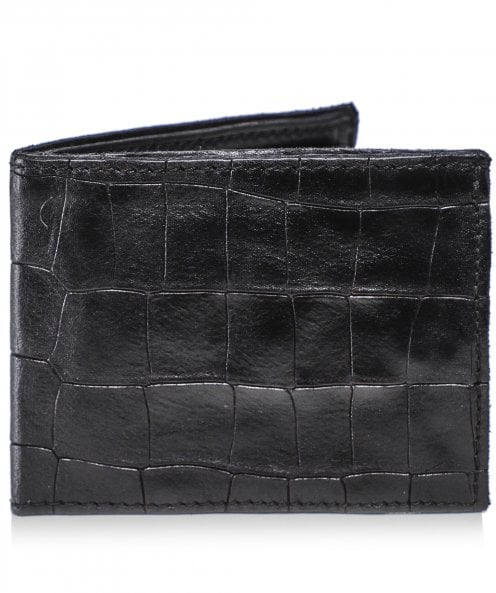 Campomaggi Leather Mock Croc Coin Wallet