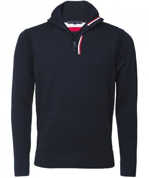 Tommy Hilfiger Half-Zip Global Stripe Placket Jumper