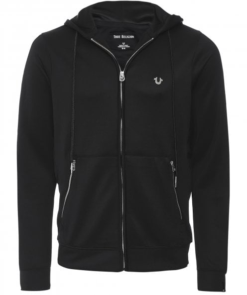 True Religion Tricot Zip-Through Hoodie