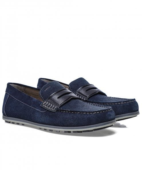 Geox Leather Mirvin Penny Loafers
