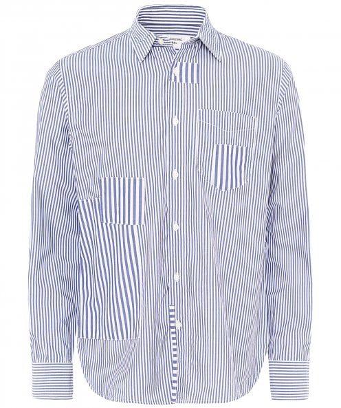 Universal Works Classic Stripes Patch Shirt