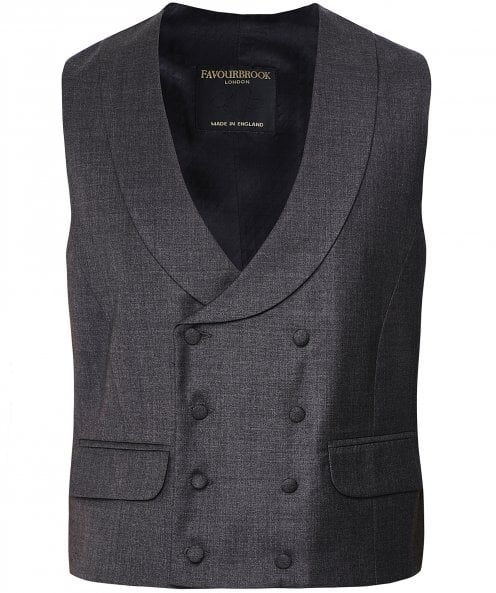 Favourbrook Wool Double Breasted Wellington Waistcoat