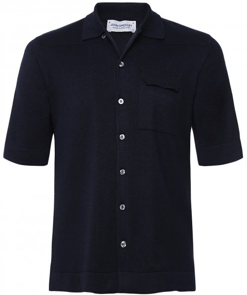 John Smedley Sea Island Cotton Short Sleeve Creek Shirt